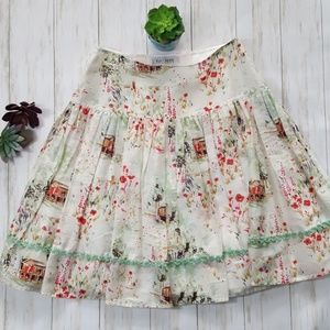 Kay Unger cotton/silk blend spring skirt sz 6